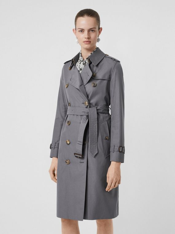 Trench coat Heritage Kensington largo (Gris Medio)