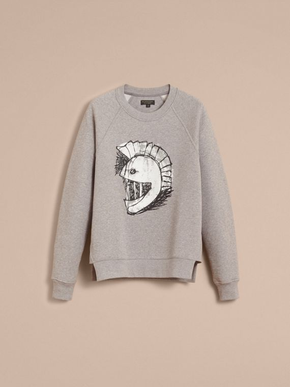 Unisex Pallas Helmet Motif Sweatshirt - Men | Burberry - cell image 3