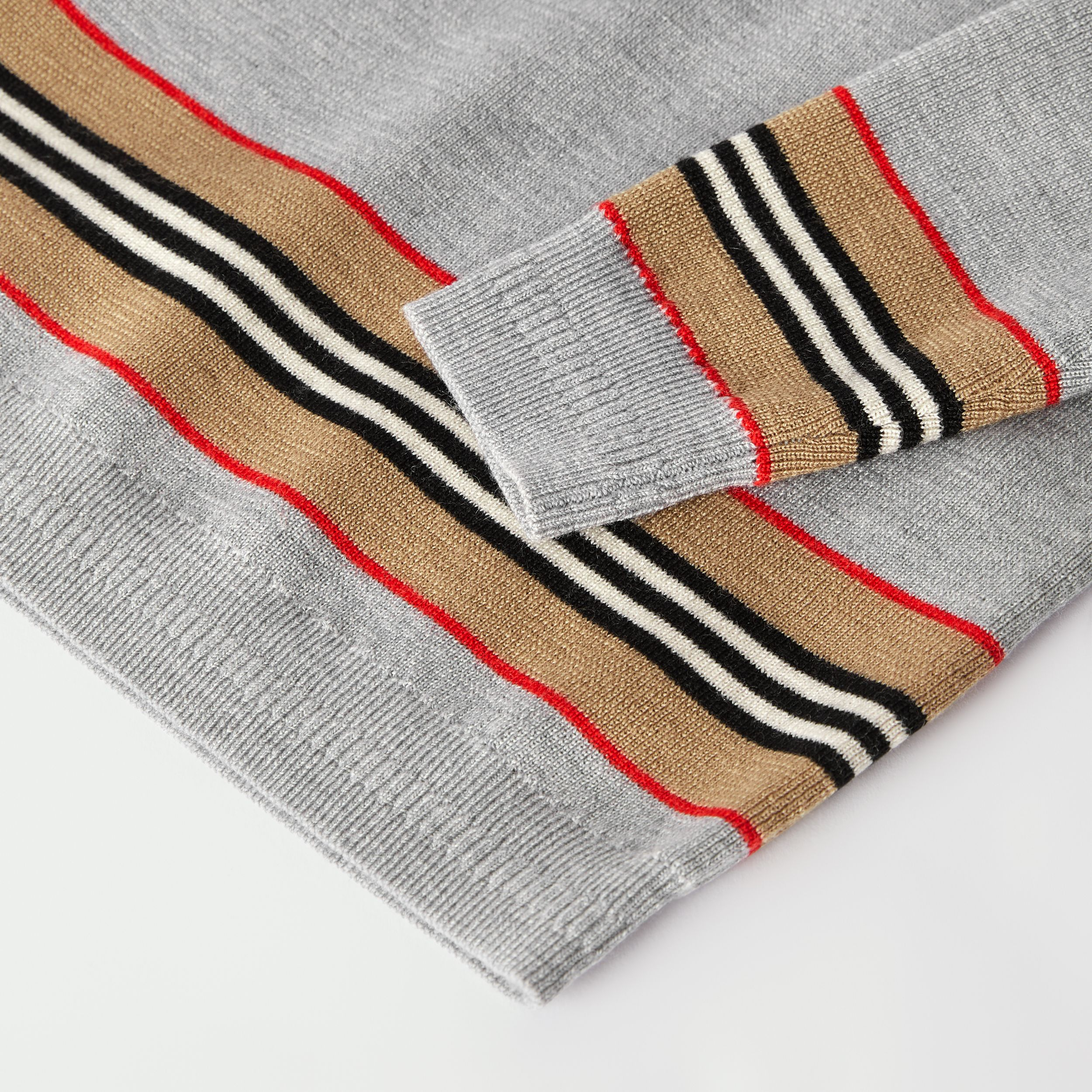 Icon Stripe Panel Merino Wool Sweater - Children | Burberry Canada - 2