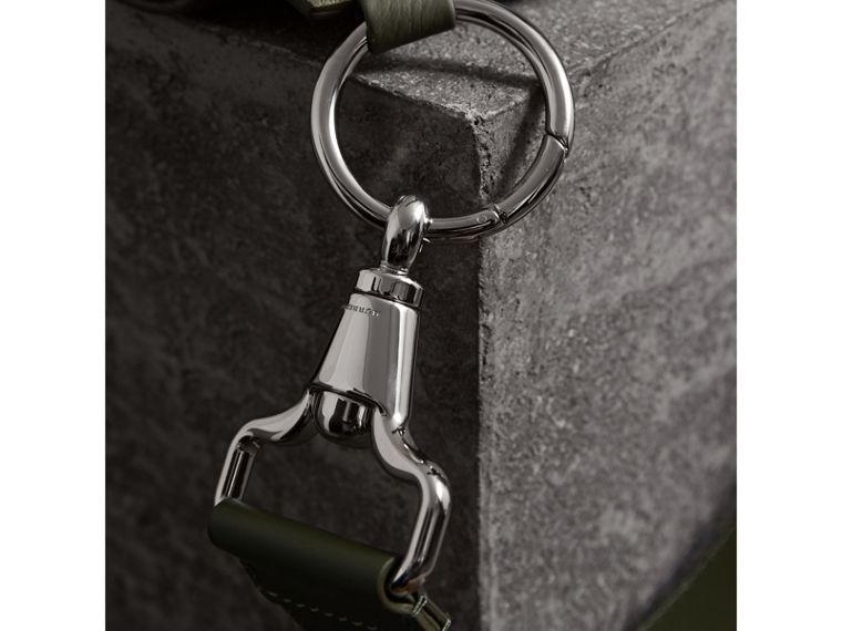 The Bridle Bag in Deerskin in Slate Green - Women | Burberry - cell image 1