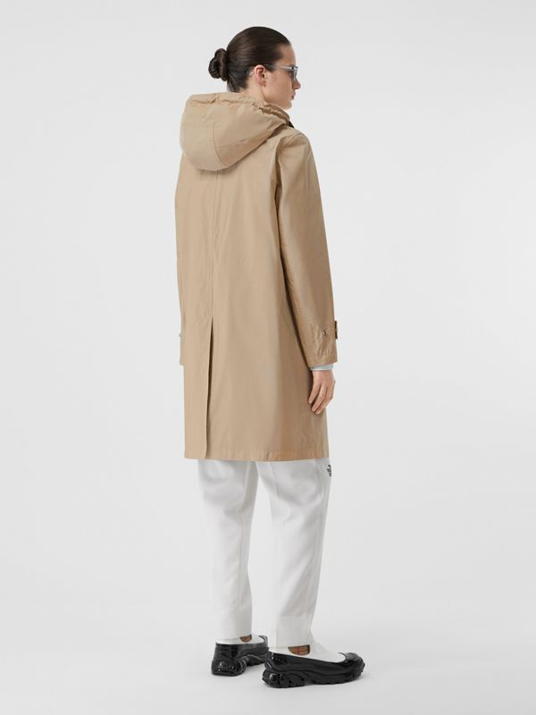 Detachable Hood Shape-memory Taffeta Car Coat in Dusty Beige - Women | Burberry - cell image 2