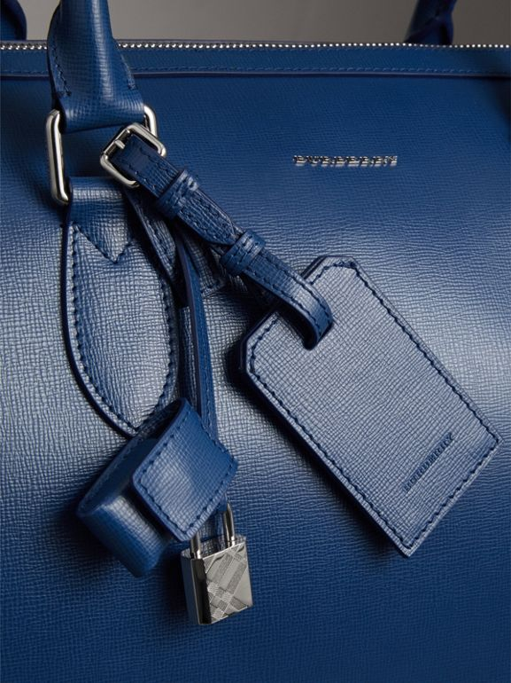London Leather Holdall in Deep Blue - Men | Burberry - cell image 1