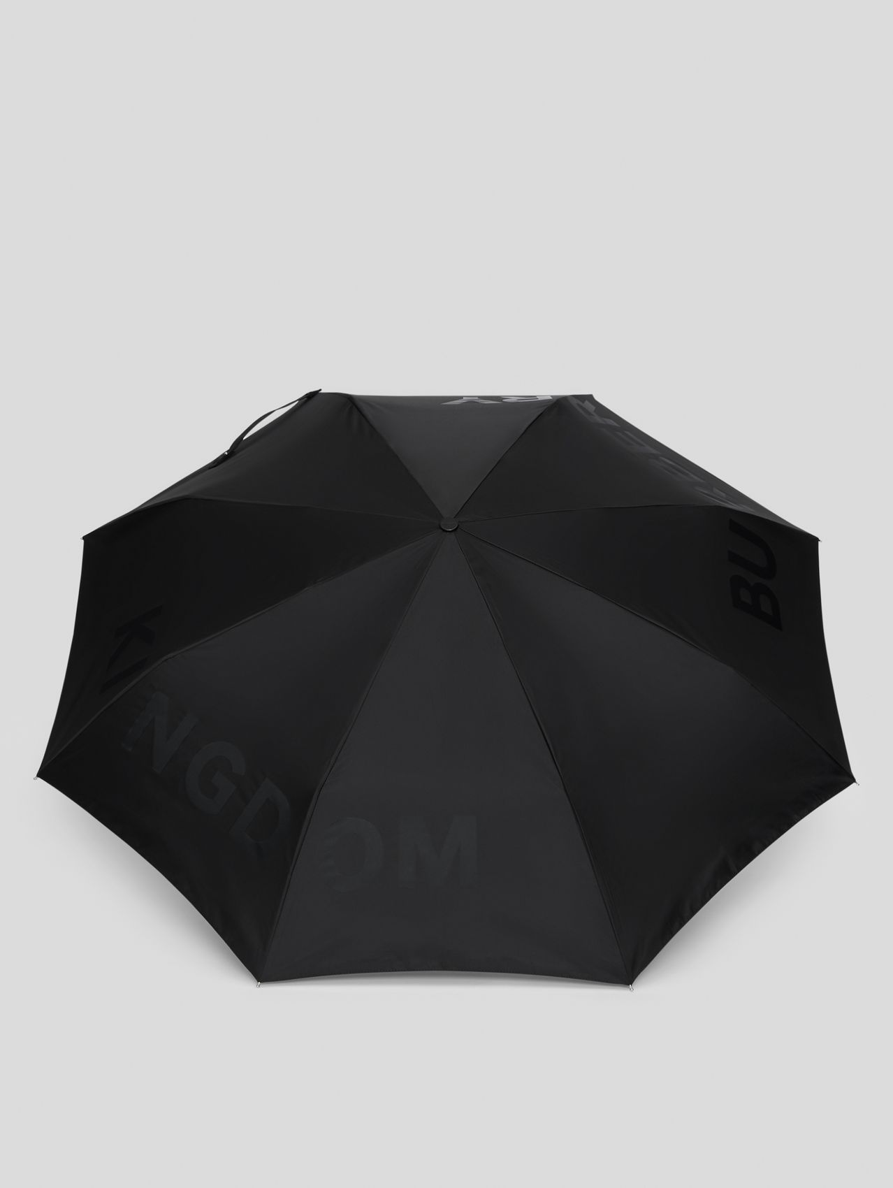 Kingdom Print Folding Umbrella in Black