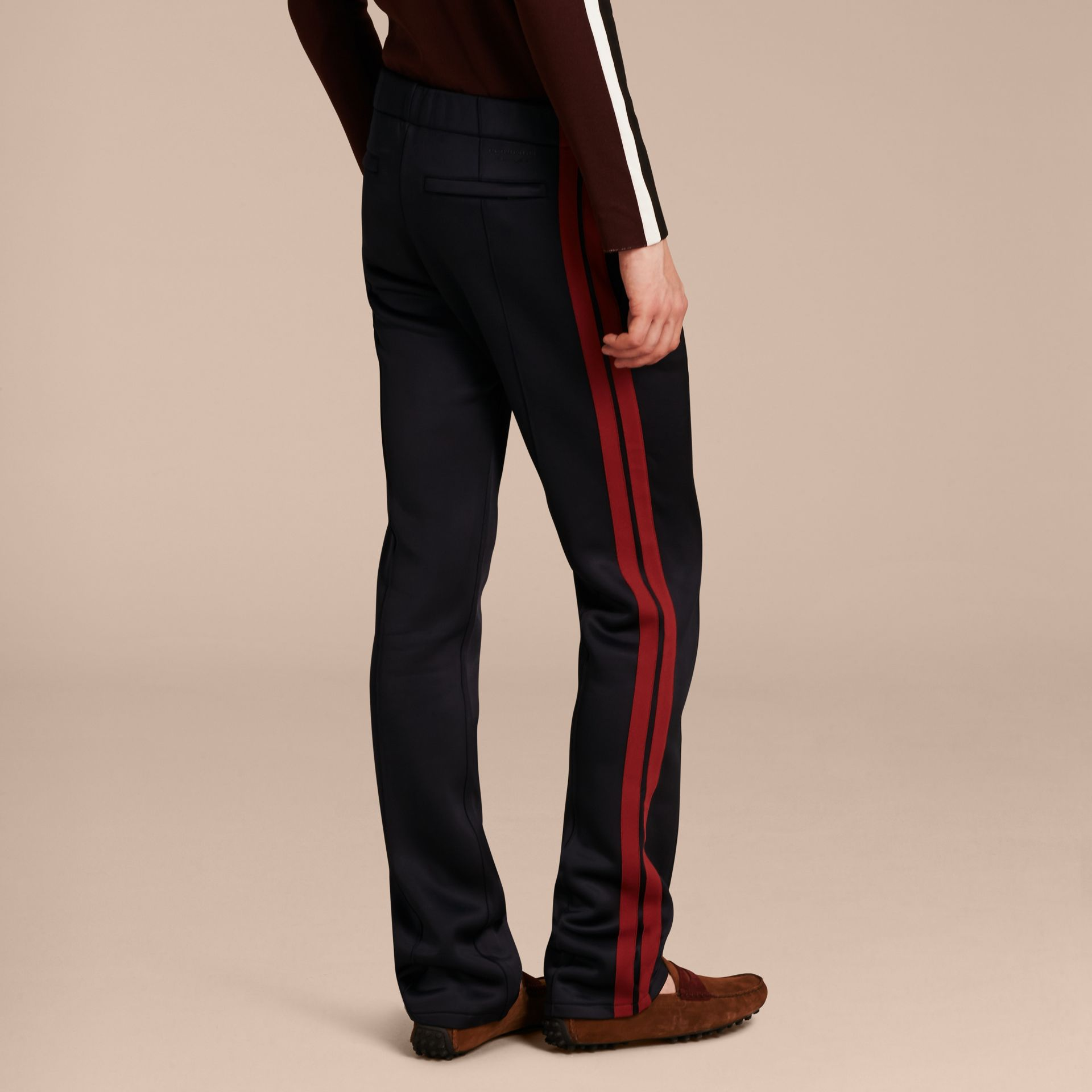 Navy Contrast Stripe Technical Track Pants - gallery image 3