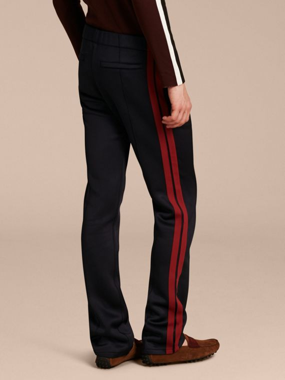 Navy Contrast Stripe Technical Track Pants - cell image 2