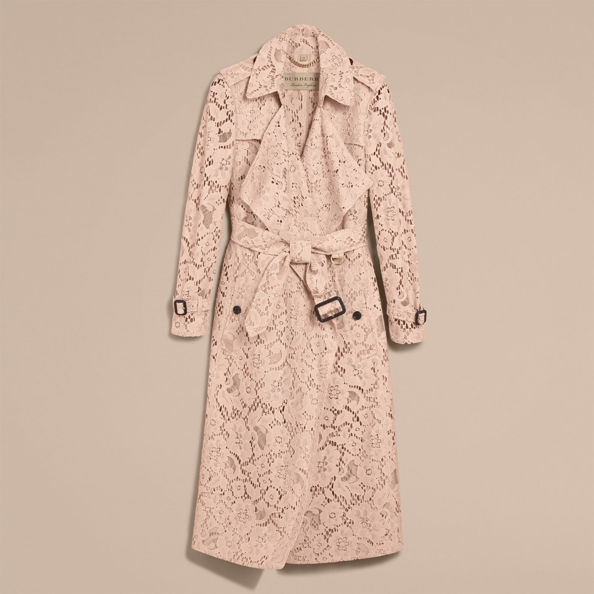 Macramé Lace Wrap Trench Coat - gallery image 4