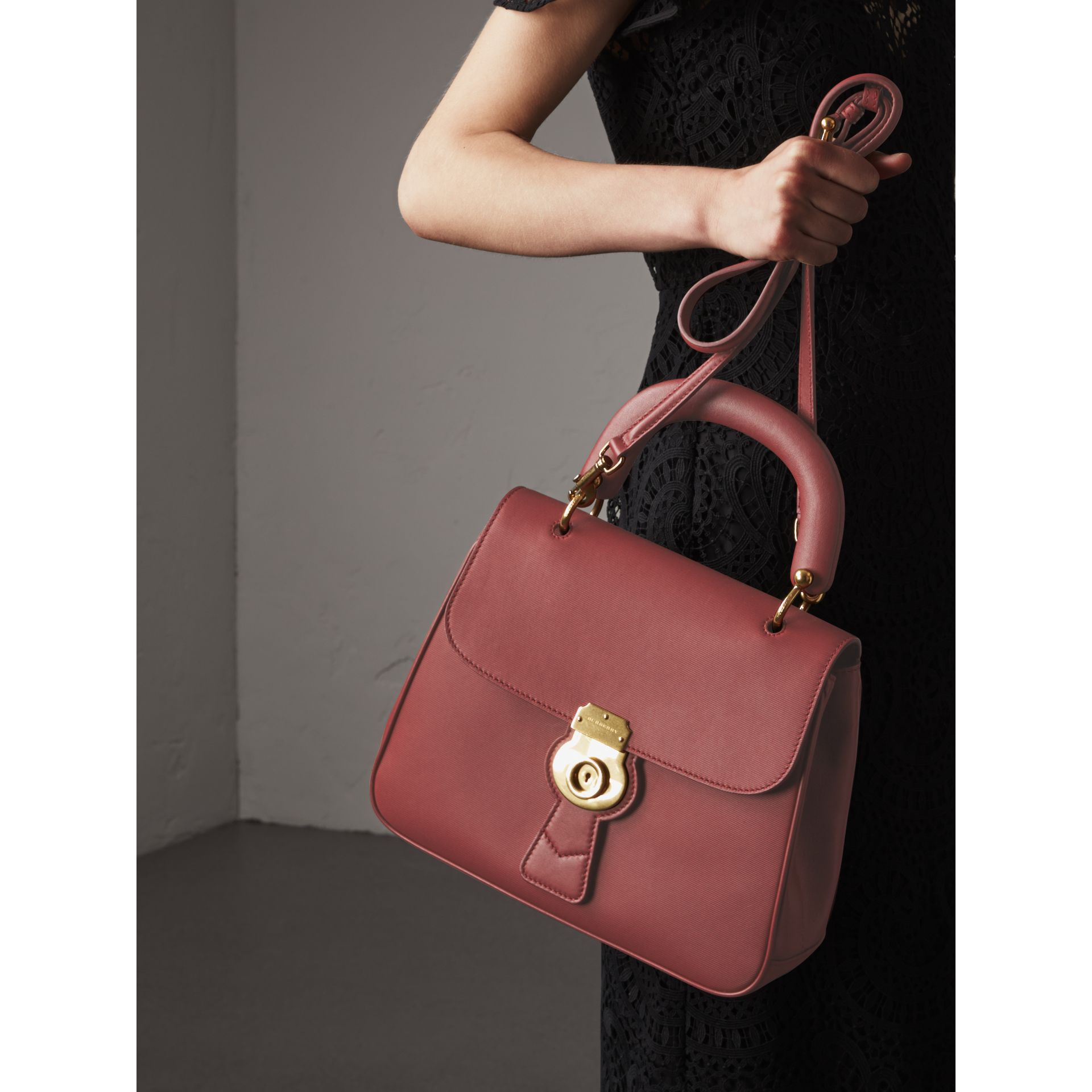 The Medium DK88 Top Handle Bag in Antique Red - Women | Burberry - gallery image 4