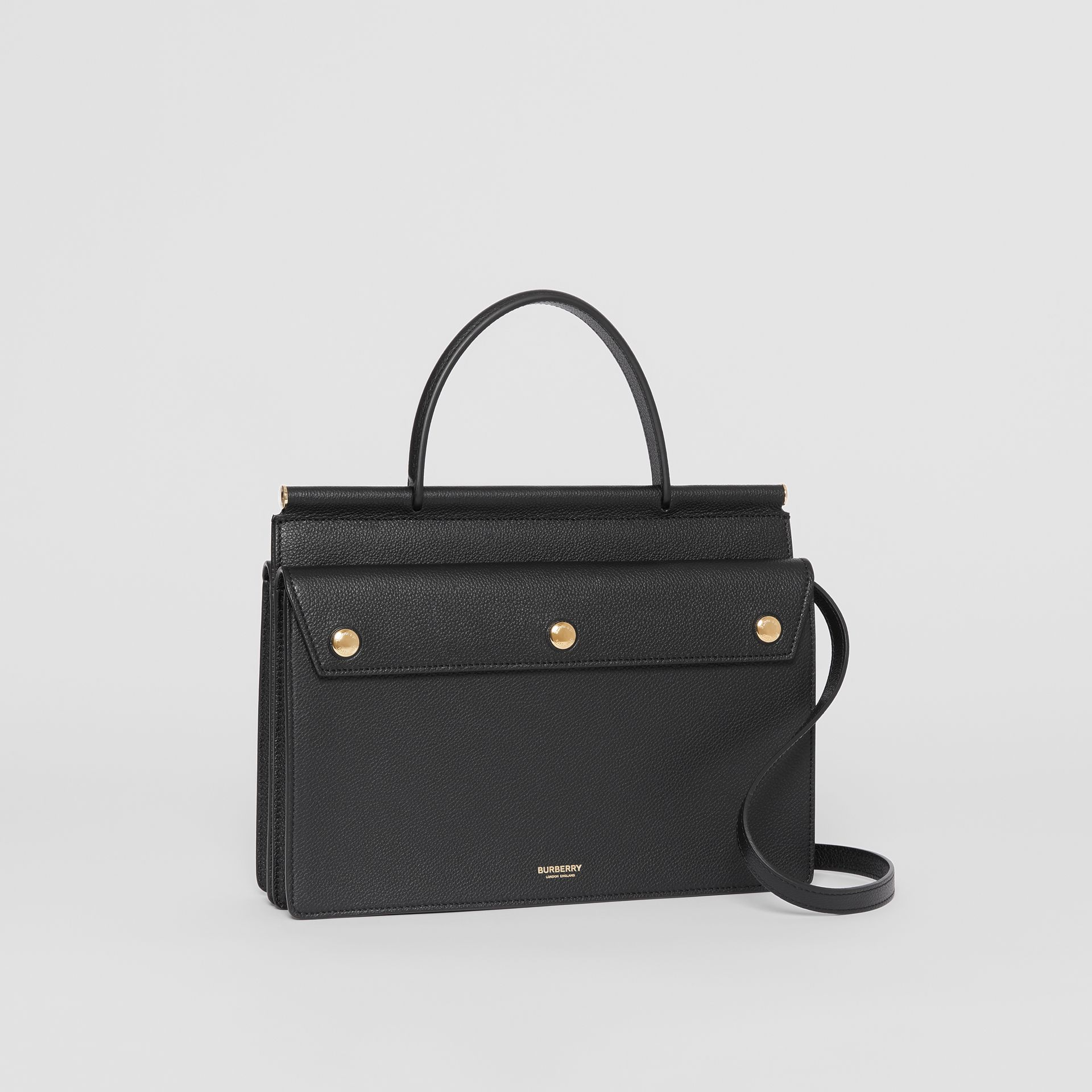 Small Leather Title Bag with Pocket Detail in Black - Women | Burberry Australia - gallery image 6