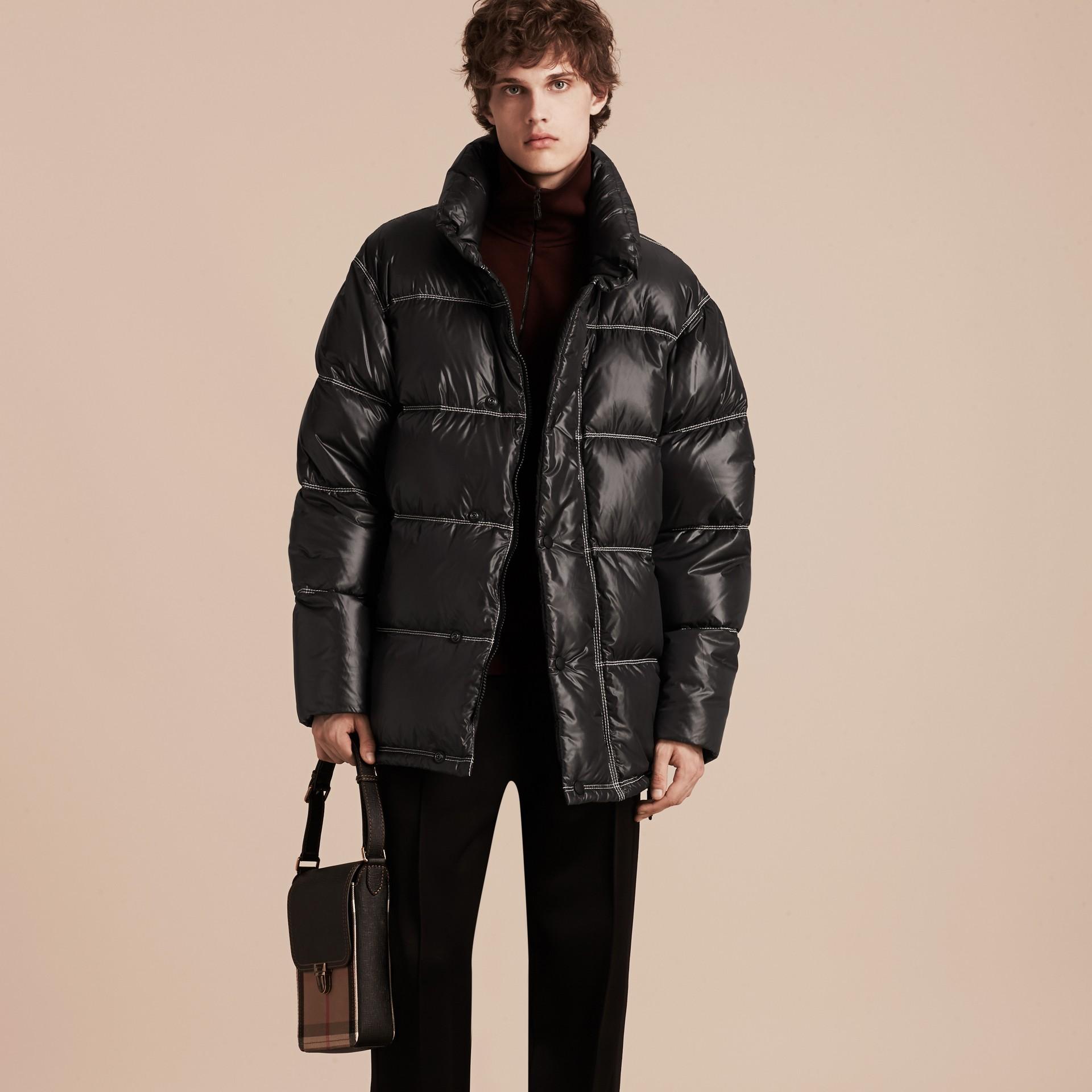 Черный Пальто на пуху - изображение 7