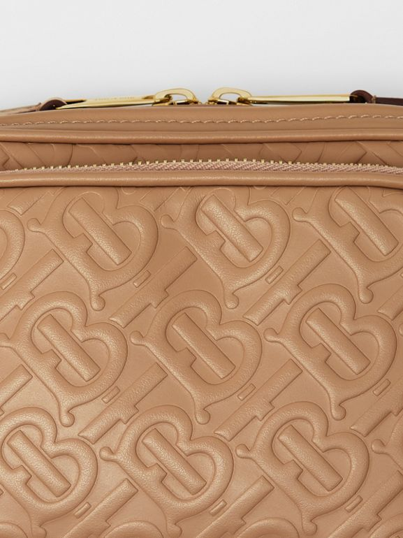 Monogram Leather Camera Bag in Honey - Women | Burberry - cell image 1