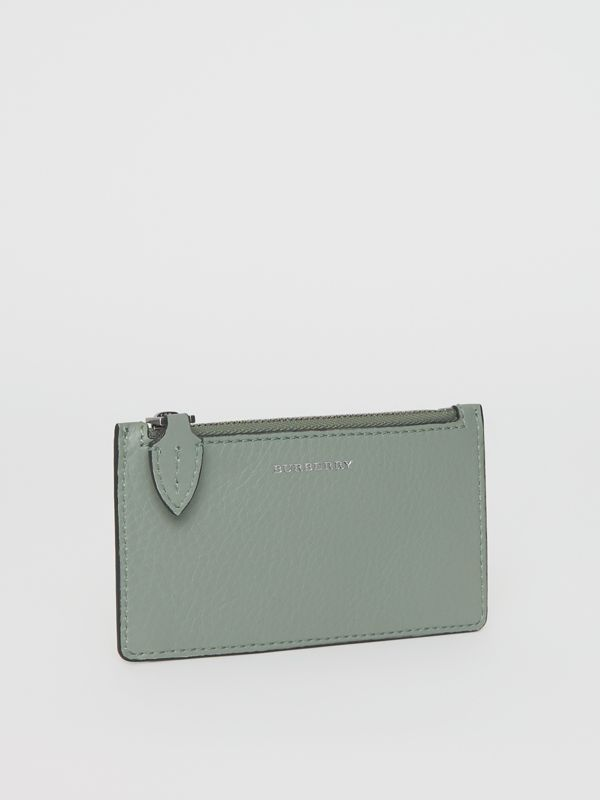 Two-tone Leather Card Case in Grey Blue - Women | Burberry United Kingdom - cell image 3