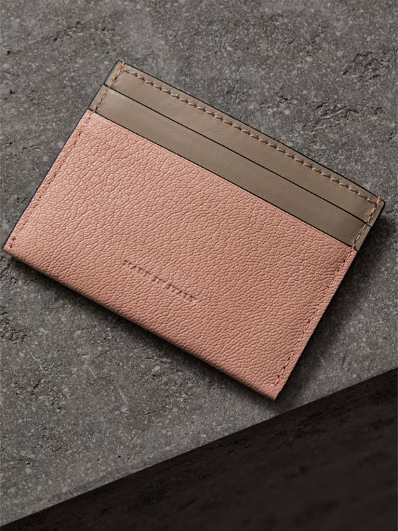 Two-tone Leather Card Case in Pale Ash Rose - Women | Burberry - cell image 2