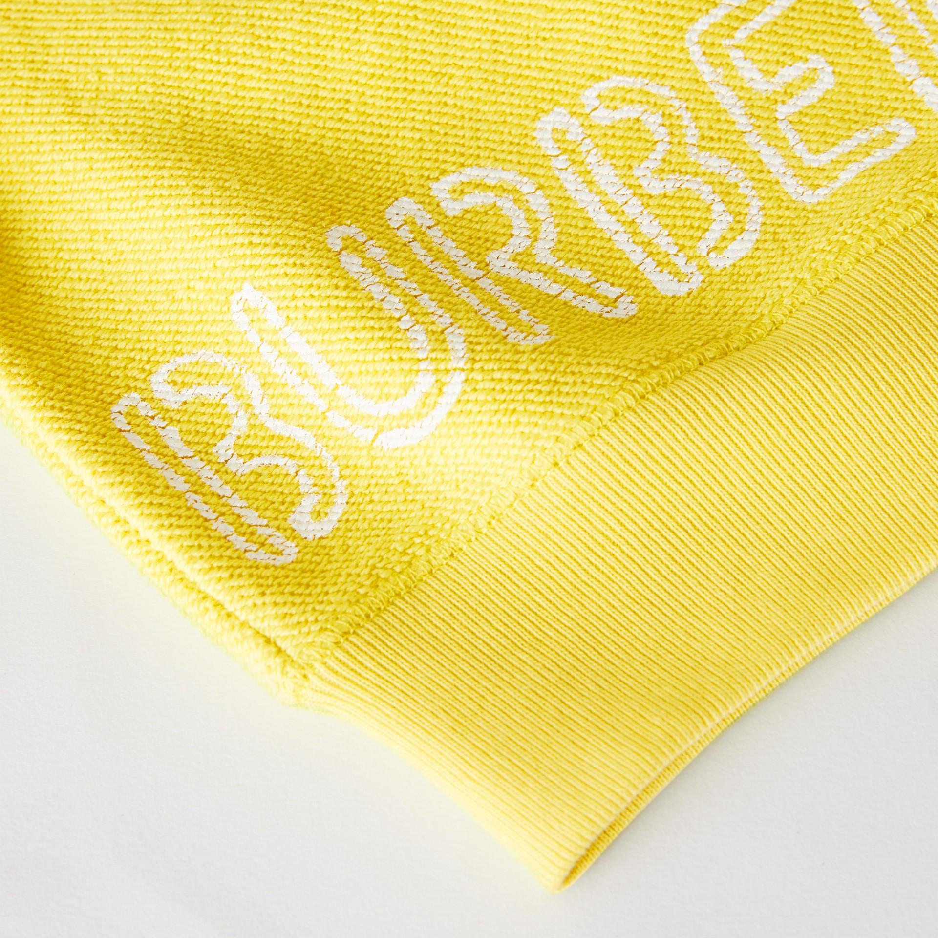 Sweat-shirt en coton avec logo au pochoir (Citron) - Enfant | Burberry - photo de la galerie 1
