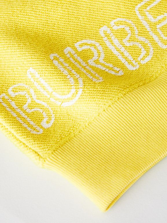 Stencil Logo Print Cotton Sweatshirt in Citron - Children | Burberry Canada - cell image 1
