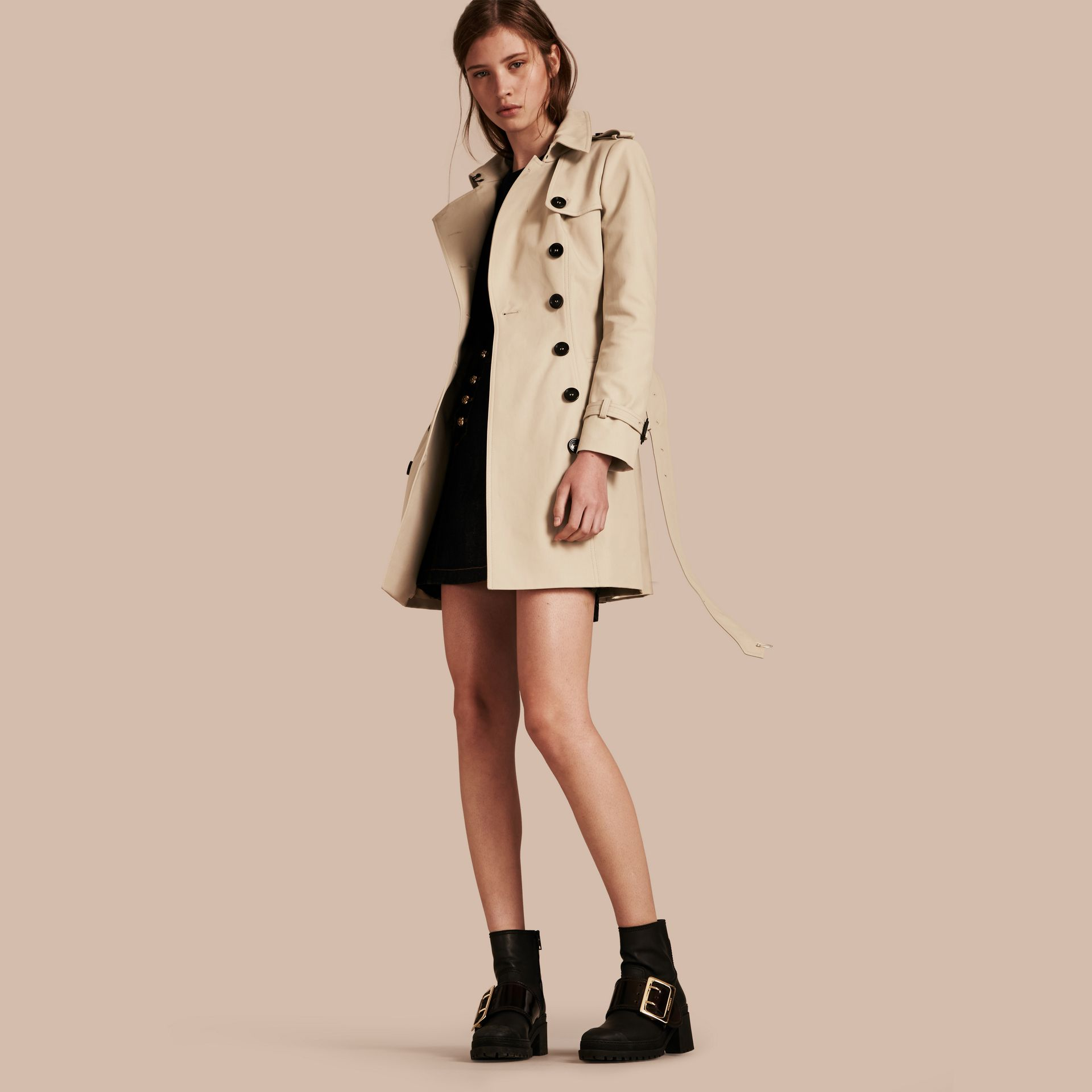 Trench Double Cotton Twill Trench Coat - gallery image 1