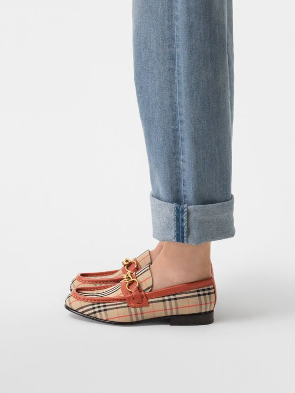 The 1983 Check Link Loafer in Brick Red - Women | Burberry - cell image 2