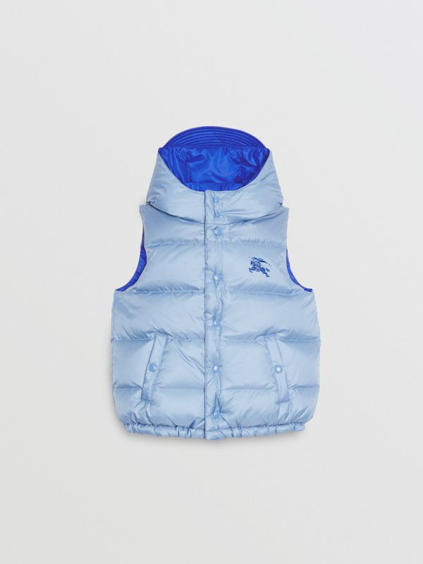 Reversible Showerproof Down-filled Hooded Gilet in Bright Spectrum Blue | Burberry - cell image 3