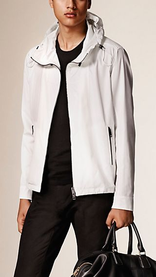 Hooded Technical Silk Blouson