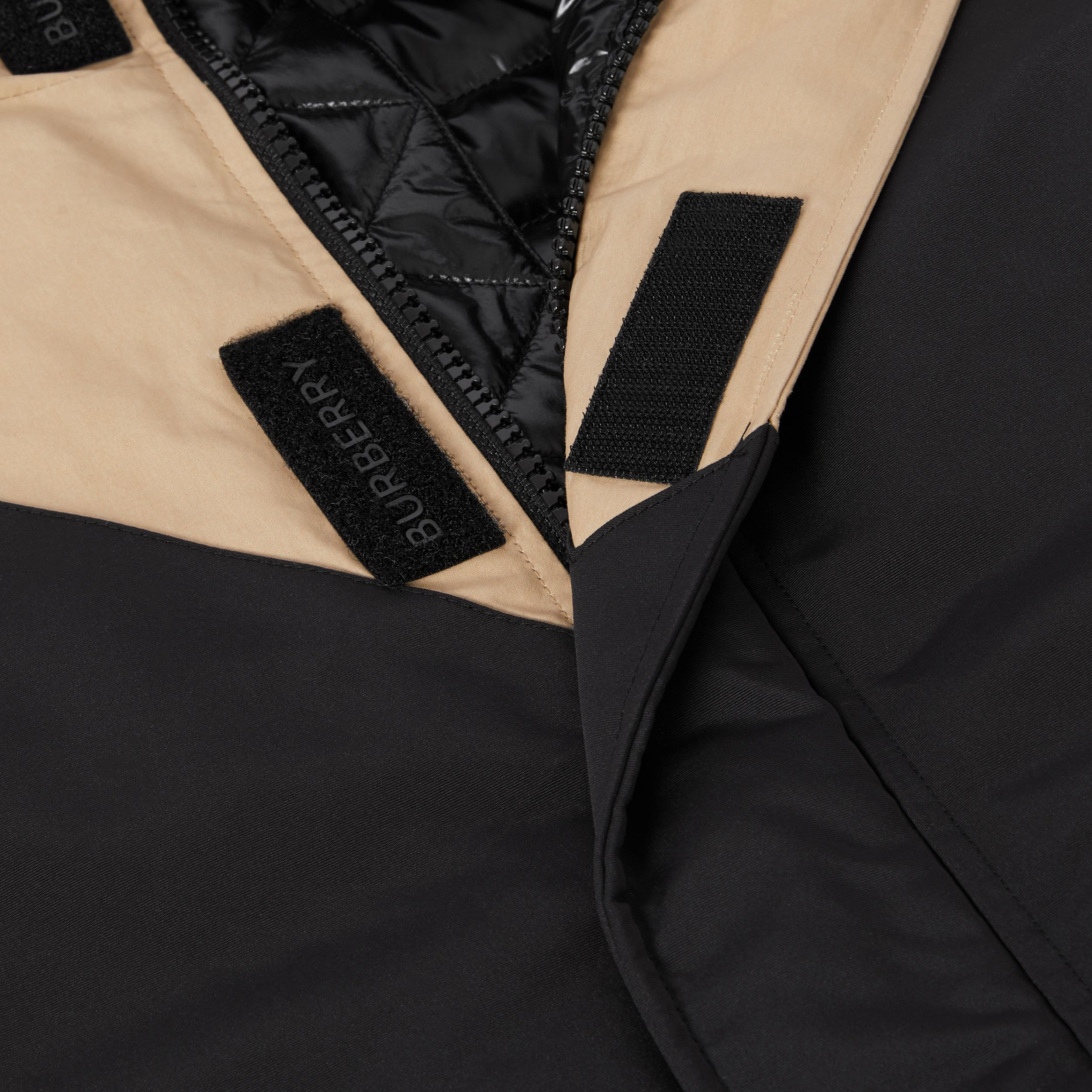 Panelled Down-filled Cotton Jacket in Honey | Burberry - 3