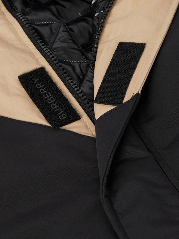 Panelled Down-filled Cotton Jacket in Honey | Burberry - cell image 1