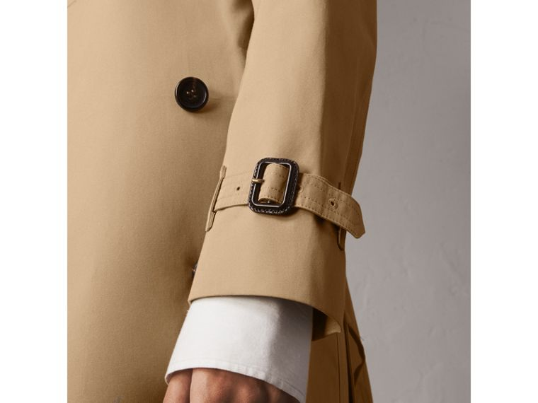 The Kensington – Extra-long Trench Coat in Honey - Women | Burberry Australia - cell image 4