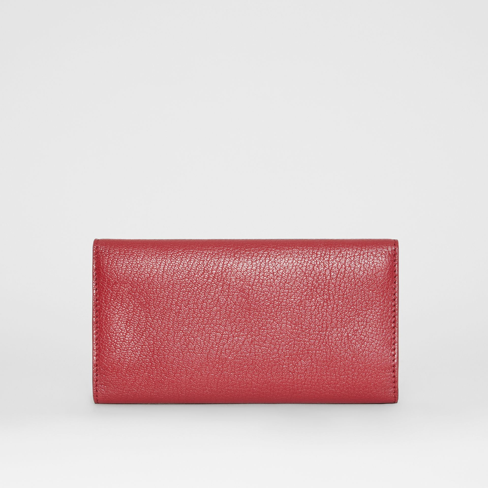 D-ring Grainy Leather Continental Wallet in Crimson - Women | Burberry - gallery image 4