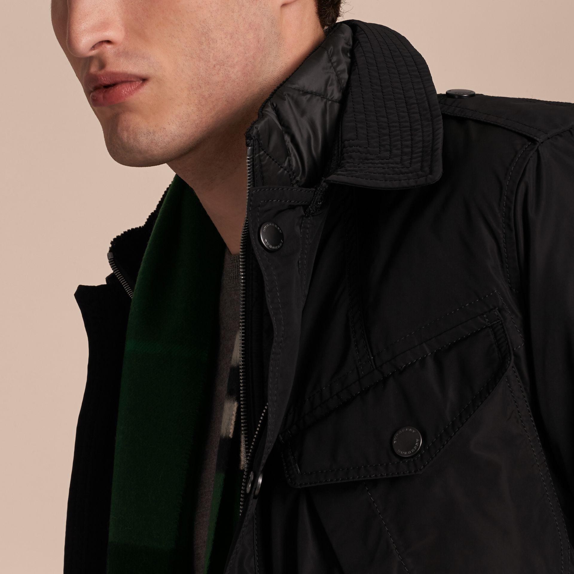 Lightweight Technical Field Jacket with Removable Warmer - gallery image 5