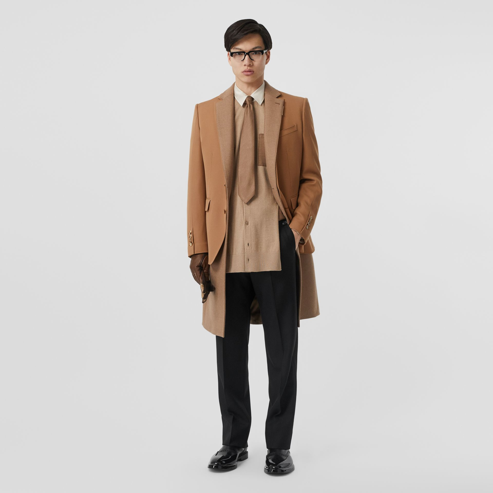 Camel Hair Coat with Detachable Wool Jacket in Warm - Men | Burberry - gallery image 0