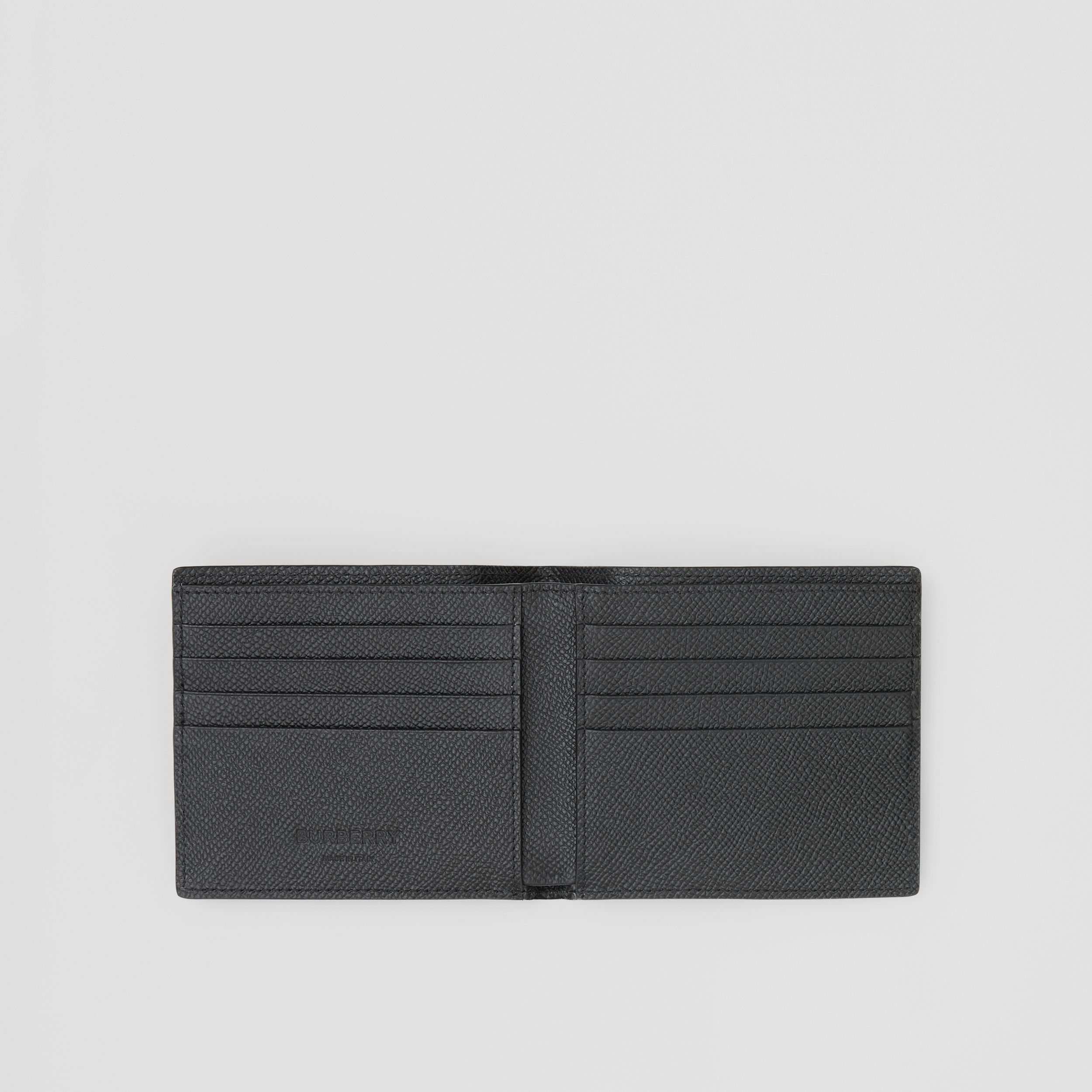 Grainy Leather International Bifold Wallet in Black - Men | Burberry Canada - 3