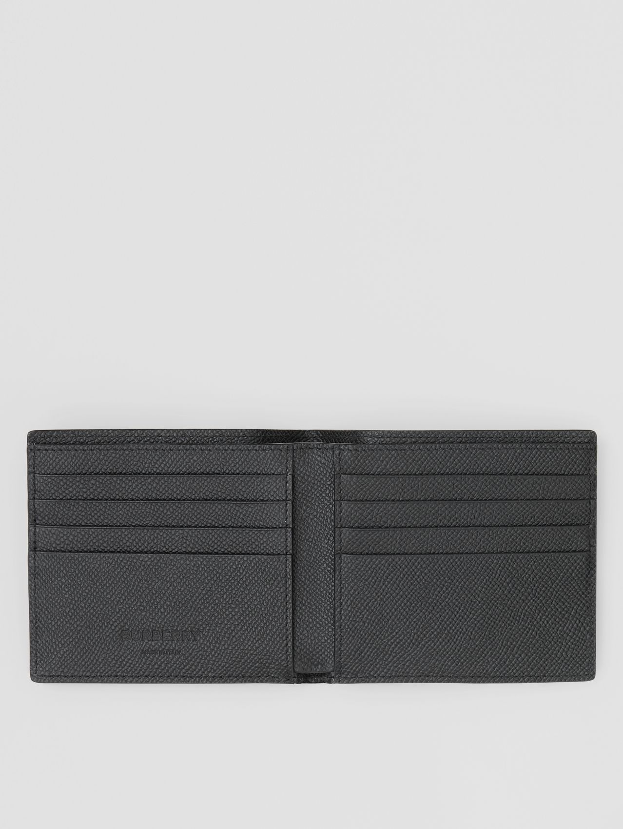 Grainy Leather International Bifold Wallet (Black)
