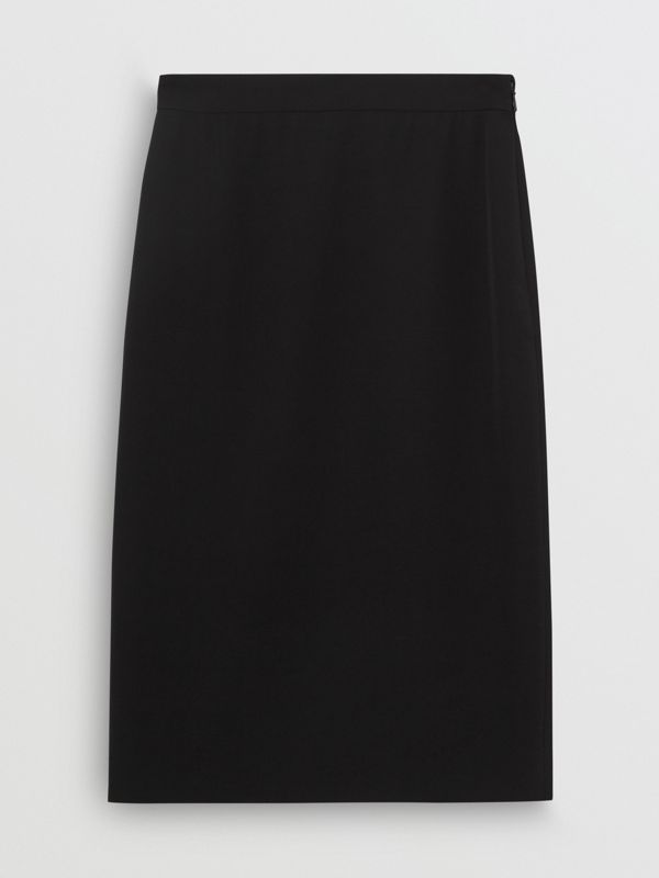 Wool High-waisted Pencil Skirt in Black - Women | Burberry Australia - cell image 3