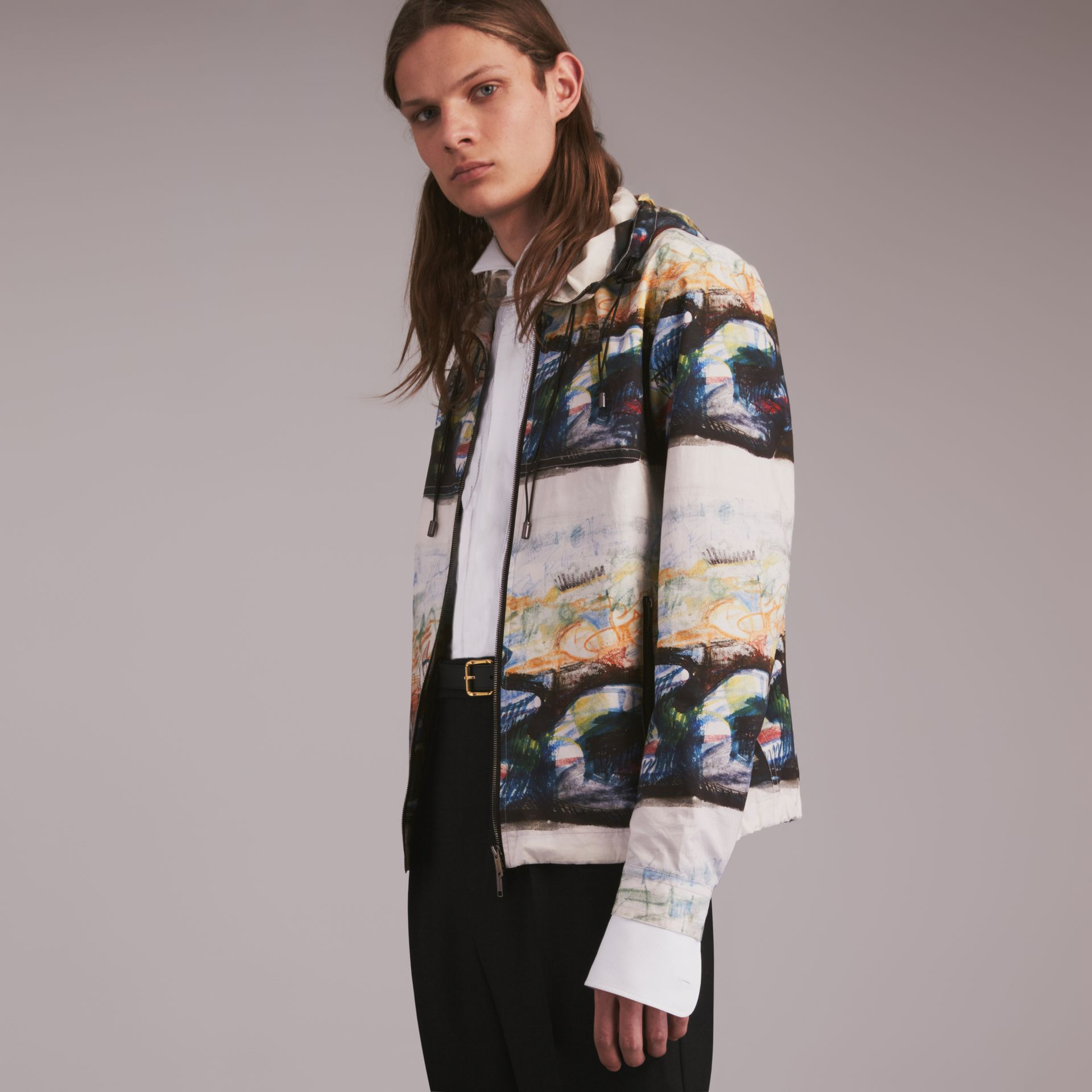 Reclining Figure: Bunched Print Hooded Jacket - gallery image 1
