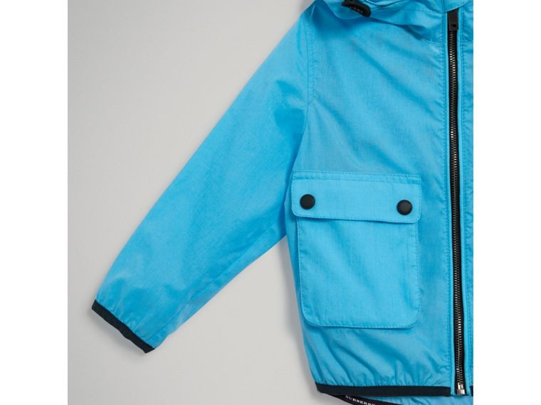 Showerproof Hooded Jacket in Bright Turquoise - Boy | Burberry - cell image 4