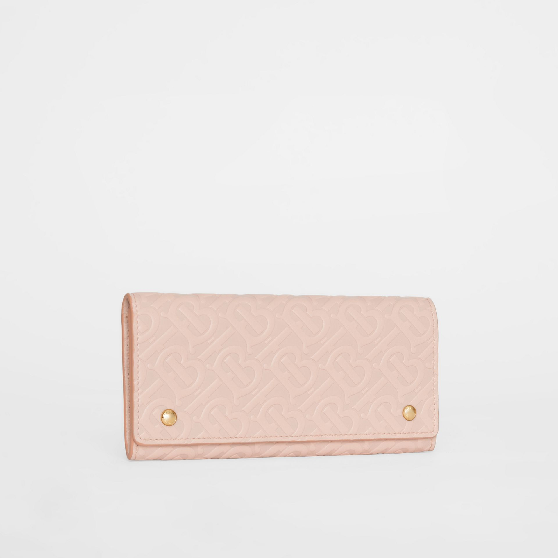 Monogram Leather Continental Wallet in Rose Beige - Women | Burberry United Kingdom - gallery image 3