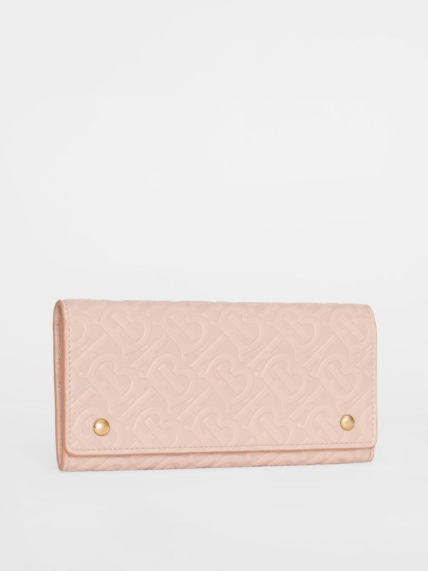 Monogram Leather Continental Wallet in Rose Beige - Women | Burberry United Kingdom - cell image 3