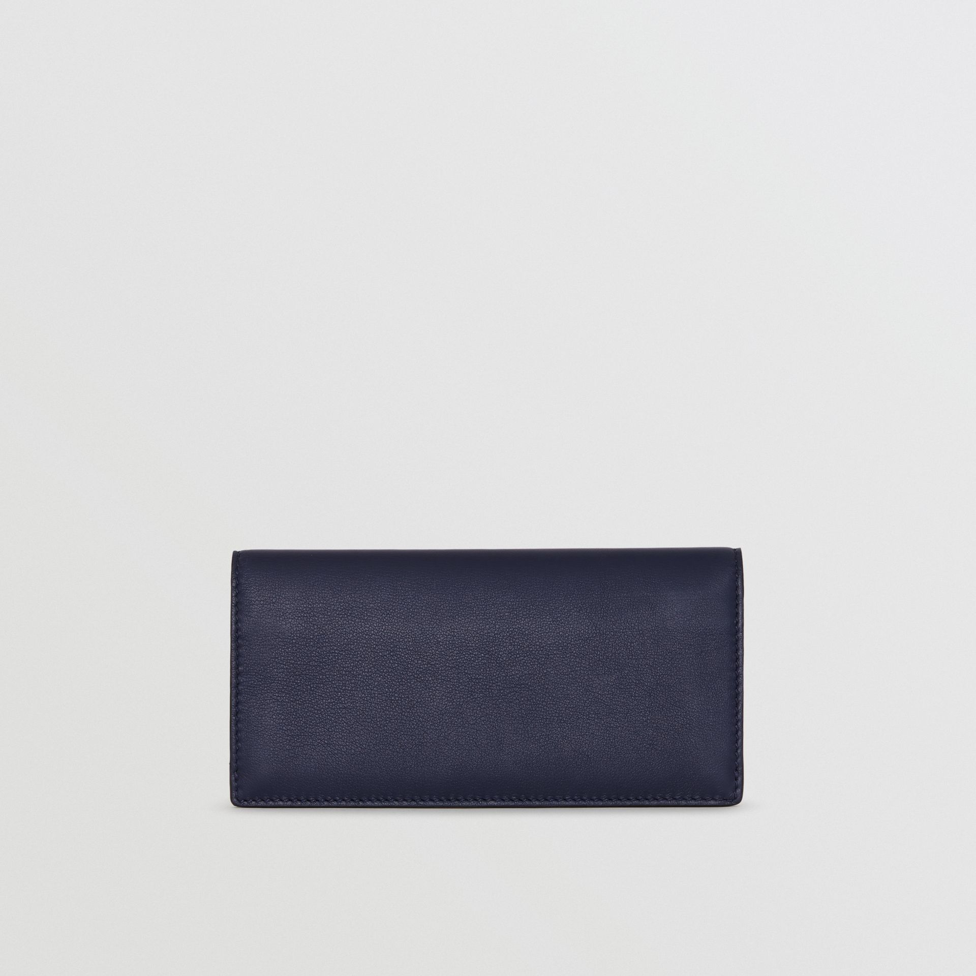 Embossed Crest Leather Continental Wallet in Regency Blue - Men | Burberry - gallery image 5