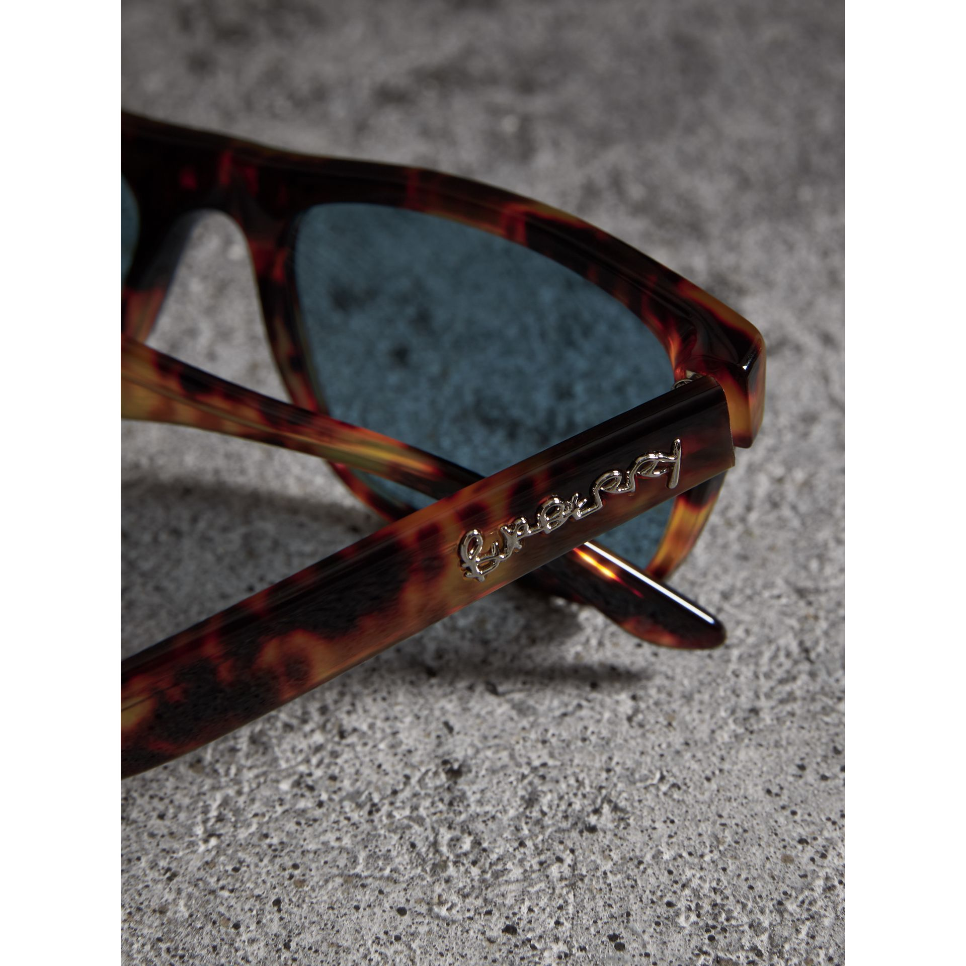 Doodle Square Frame Sunglasses in Brown - Men | Burberry Singapore - gallery image 1