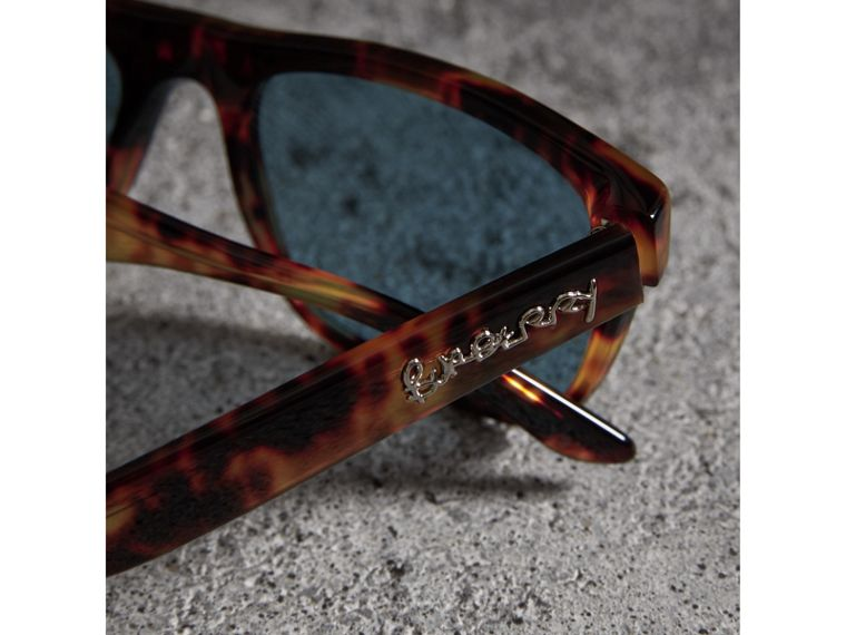 Doodle Square Frame Sunglasses in Brown - Men | Burberry United Kingdom - cell image 1