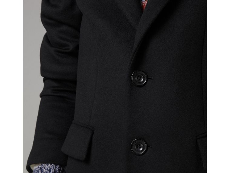 Wool Cashmere Tailored Coat in Black - Men | Burberry - cell image 4