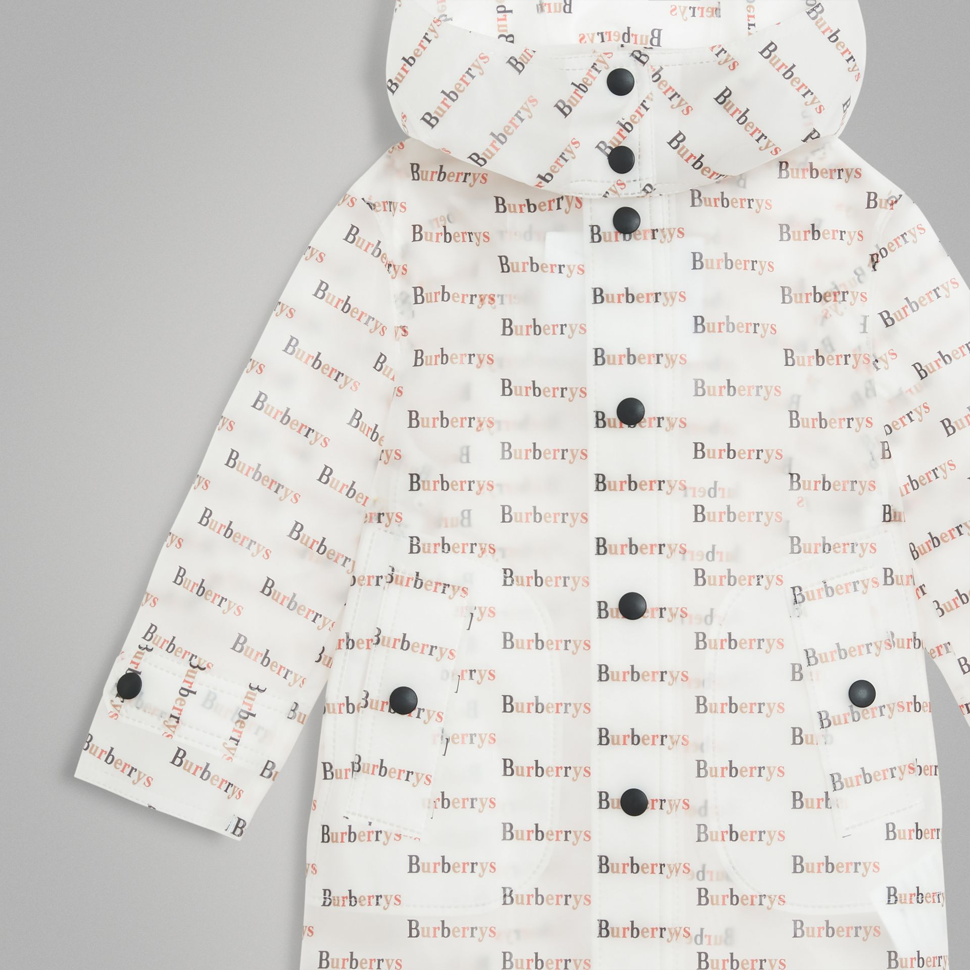 Archive Logo Print Trench Coat in Multicolour - Children | Burberry Singapore - gallery image 4