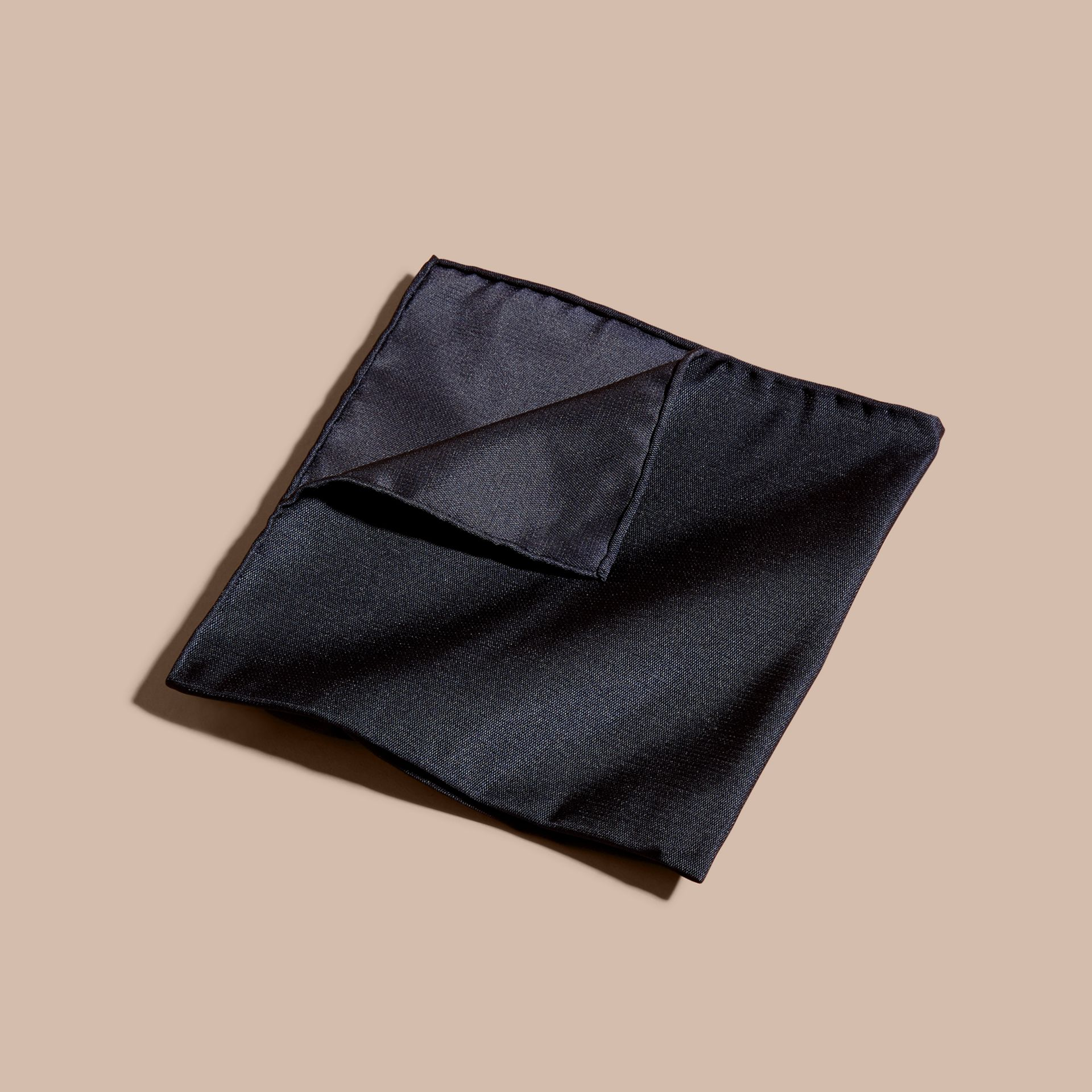 Midnight Silk Pocket Square Midnight - gallery image 1