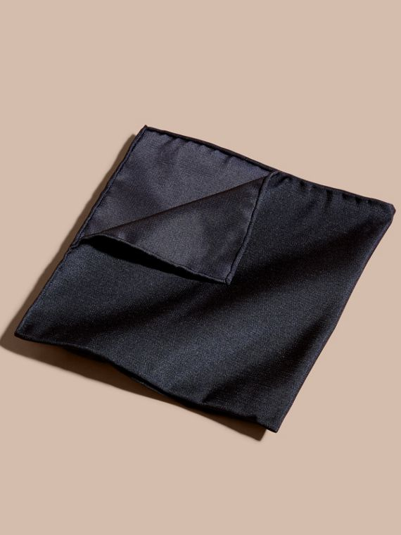 Silk Pocket Square in Midnight - Men | Burberry Canada