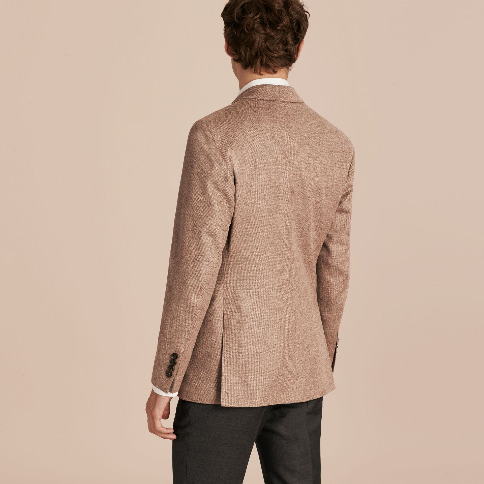Camel Modern Fit Wool Cashmere Silk Tailored Jacket - gallery image 3