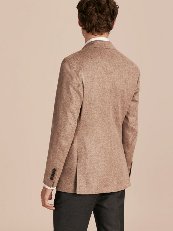 Camel Modern Fit Wool Cashmere Silk Tailored Jacket - cell image 2
