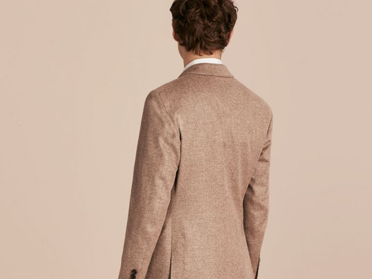 Camel Modern Fit Wool Cashmere Silk Tailored Jacket - cell image 1