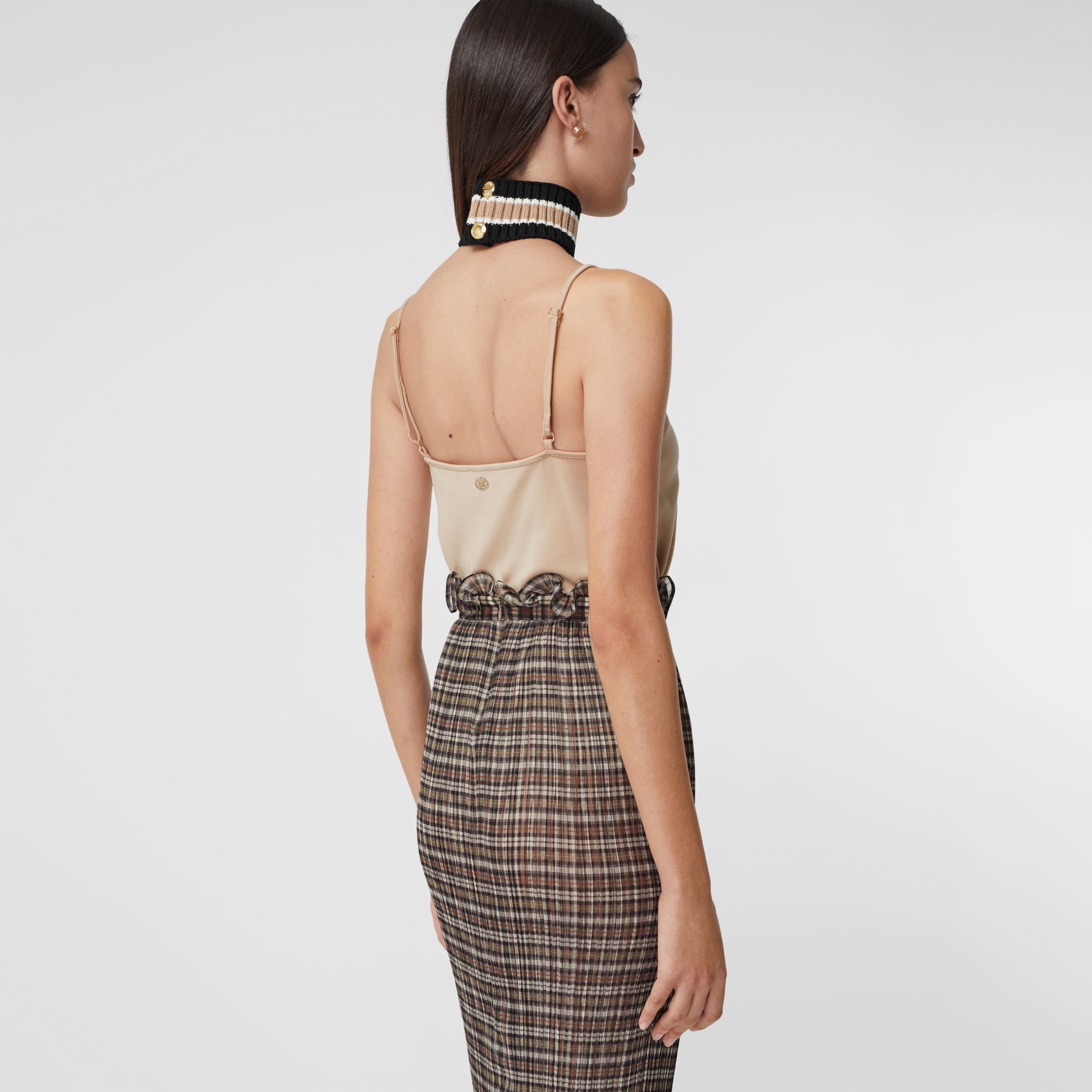 Monogram Motif Stretch Jersey Camisole in Soft Fawn - Women | Burberry Hong Kong S.A.R. - 2