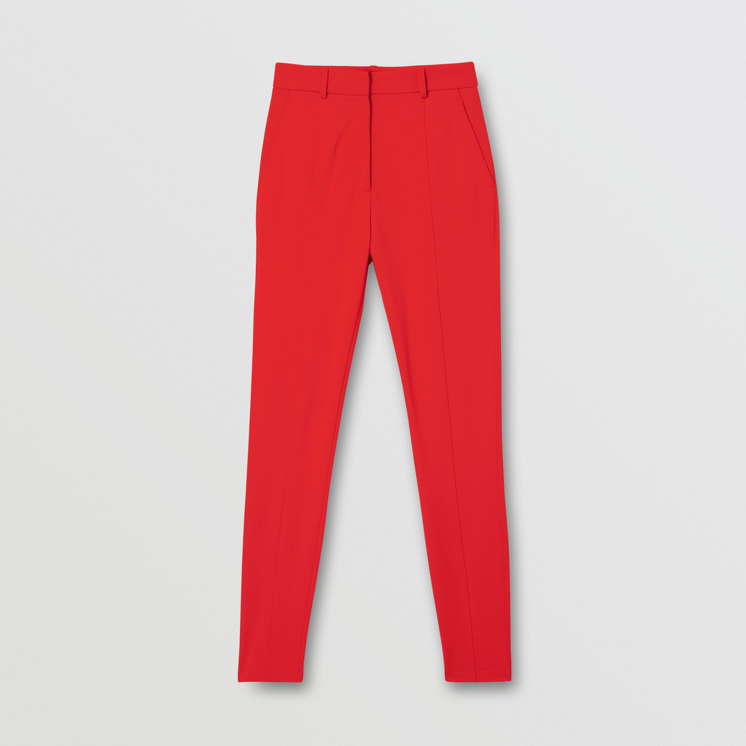 Stretch Jersey Jodhpurs in Bright Red - Women | Burberry - 3