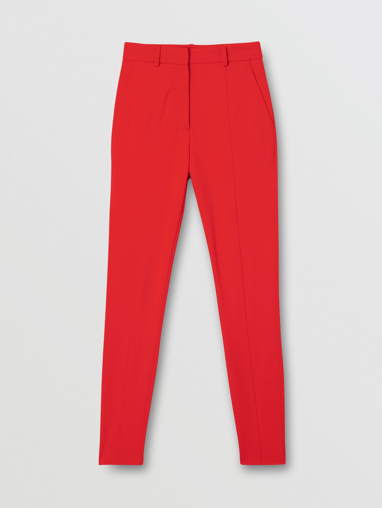 Pantaloni jodhpur in jersey stretch (Rosso Intenso)