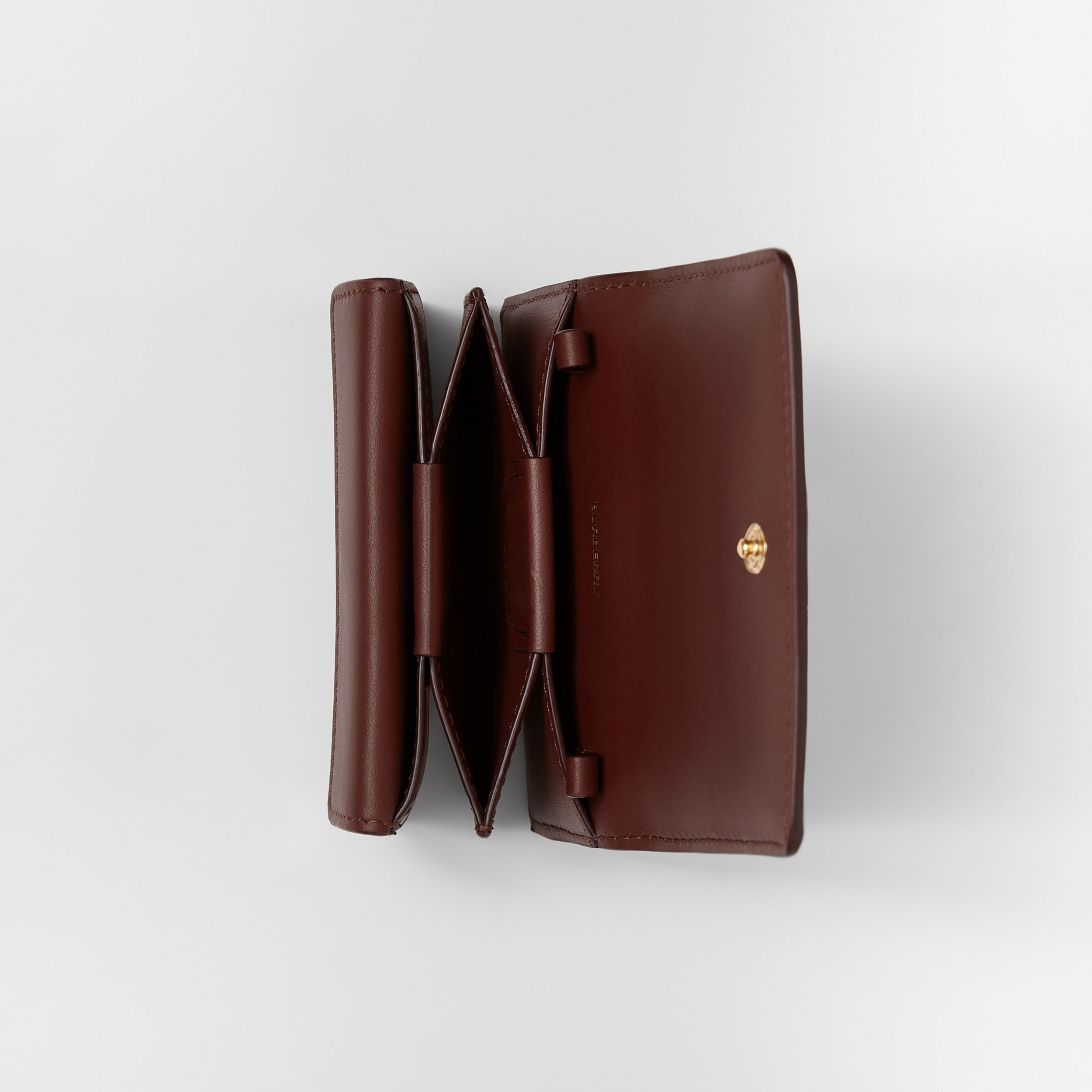 Quilted Lambskin Card Case with Detachable Strap in Garnet - Women | Burberry Hong Kong S.A.R. - 4