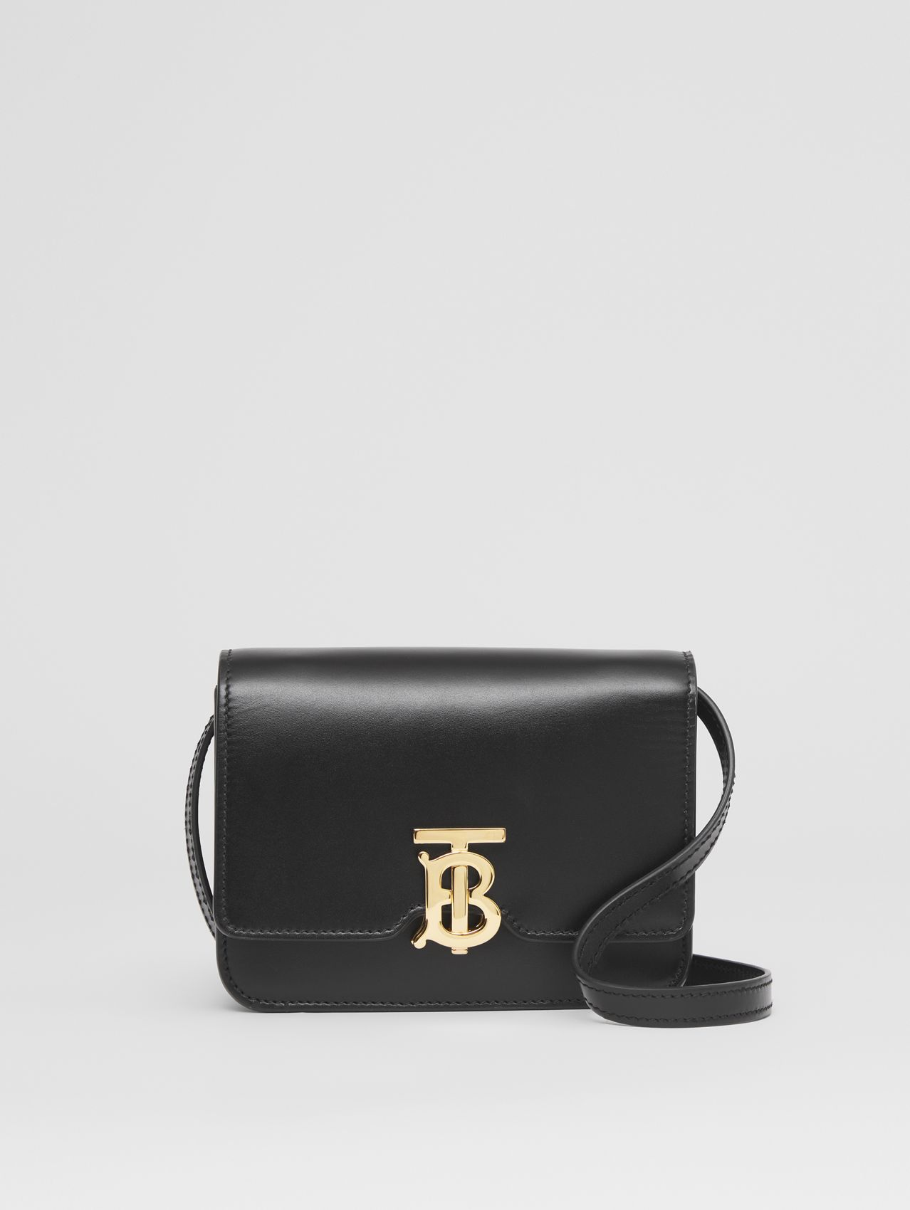 Mini Leather TB Bag in Black